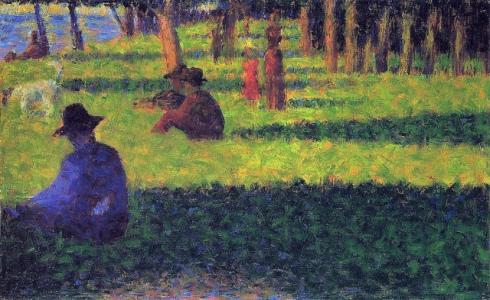 Georges Seurat, studio ad olio per La Grande Jatte