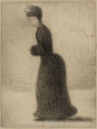 GeorgesSeurat, studio a matita di donna con un manicotto