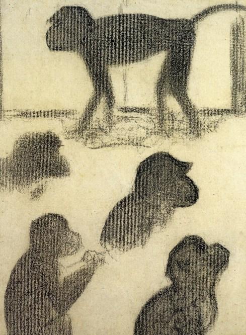 Georges Seurat, studio di scimmiette per La Grande Jatte