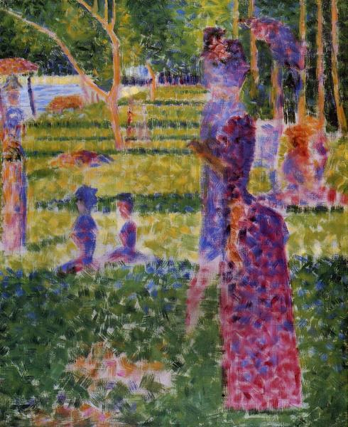 Georges Seurat, studio di coppia a passeggio per La Grande Jatte